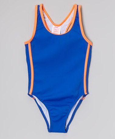 01cd7f534015f Loving this Blue & Orange One-Piece - Toddler & Girls on #zulily!  #zulilyfinds