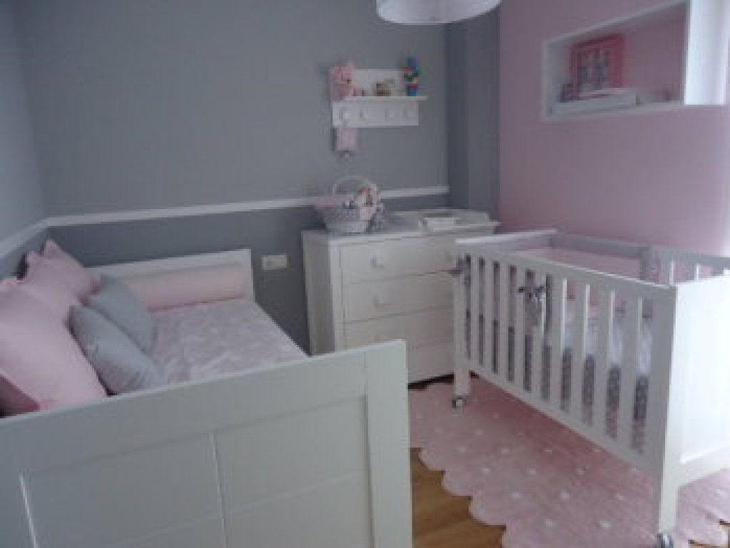 Ayuda habitacion ni a en rosa y gris decorar tu casa es for Cuarto de nina rosa palido