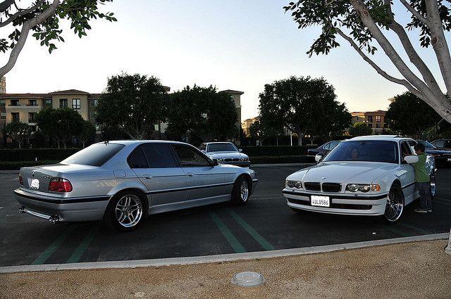 E38 BMW 7-series, nice set of modified Sevens