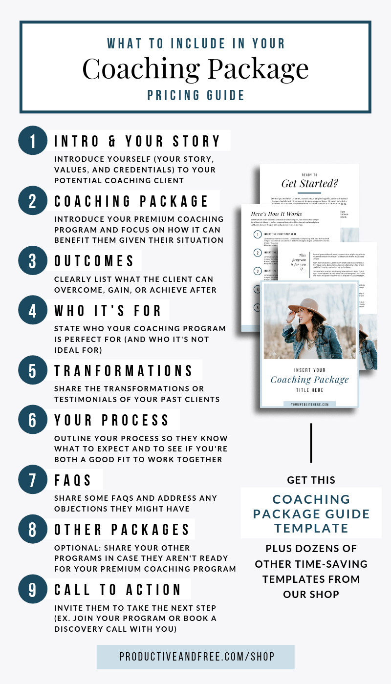 Coaching Package Template | Life coach business, Online ...