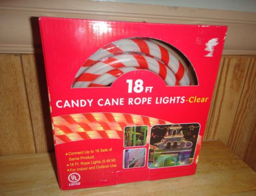 New indooroutdoor candy cane rope lights 18 feet tube lights new indooroutdoor candy cane rope lights 18 feet tube lights christmas lights aloadofball Image collections