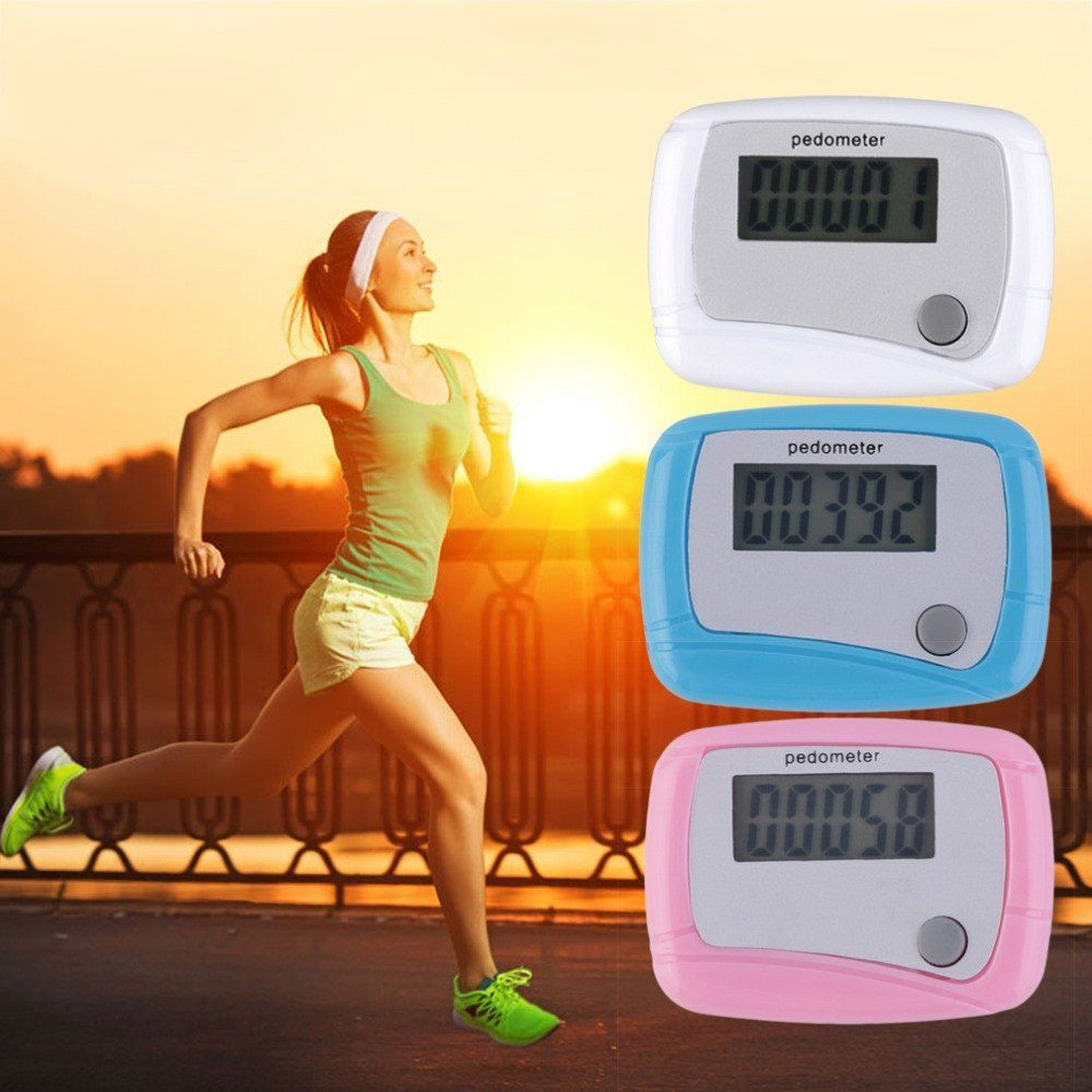 2017 new Portable Mini Digital LCD Running Step Pedometer Walking Distance Counter High Quality