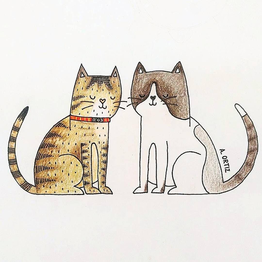 Maleante y Bandida . . . #cat #cats #gatos #gatitos #ilustración ...