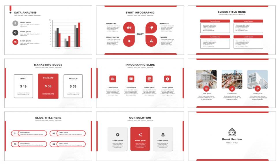 Business Concept Free Presentation Templates Ppt Google Slides In 2020 Presentation Template Free Presentation Templates Powerpoint Template Free