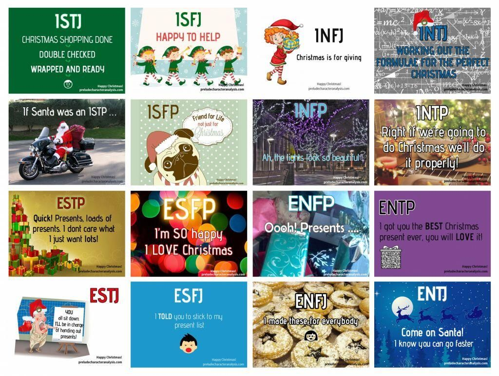 Personality types at Christmas - True