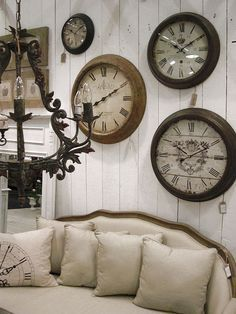 images wall covered in clocks - Google Search | Wall Arrangements ...