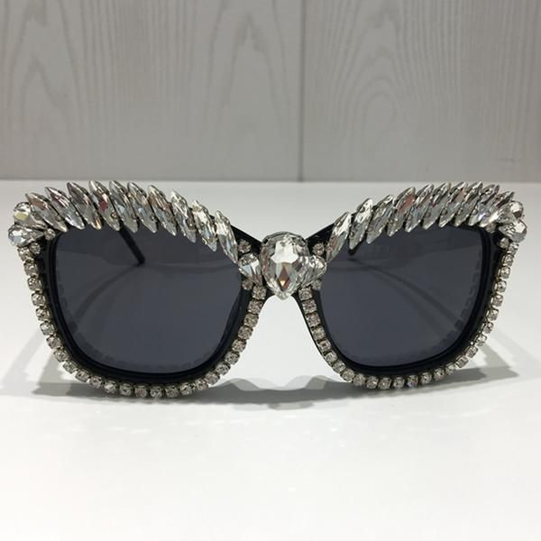 27cc7d34778b5 Women Brand Designer Luxury Crystal Sexy Cat Eye Sunglasses – Fomoloo