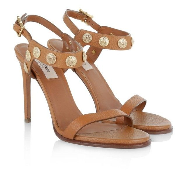 c9a5a7215af8 Valentino Roma Sandals Cognac Shoe ( 725) ❤ liked on Polyvore featuring  shoes