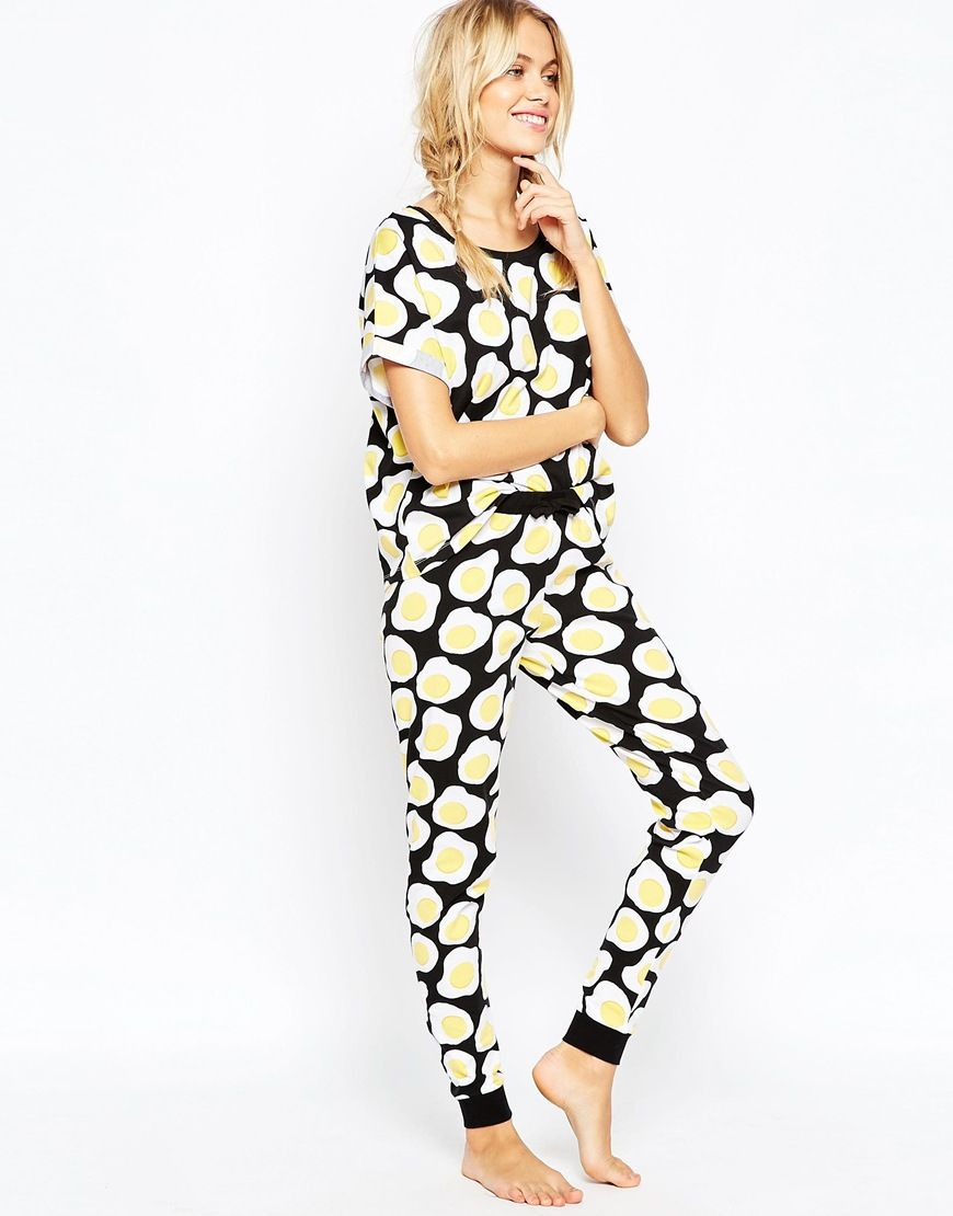 c8013ecad1 Fried Egg All Over Print Tee & Legging Pajama Set   TANGIBLE WISHES ...