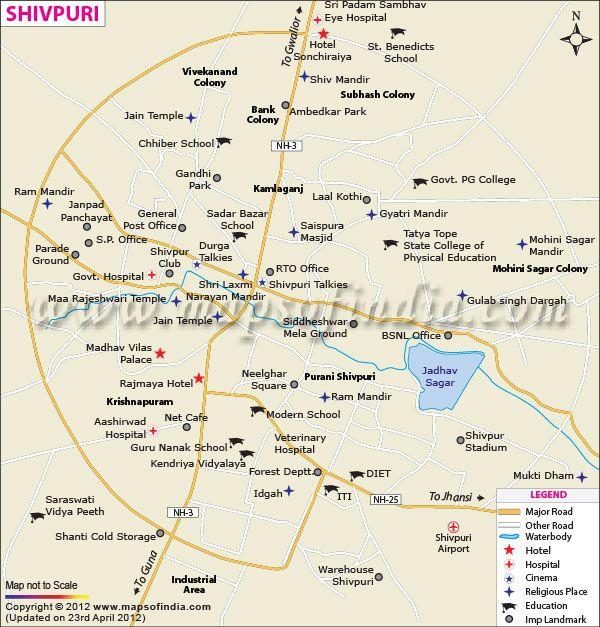 Shivpuri City Map City Maps of India Pinterest City maps