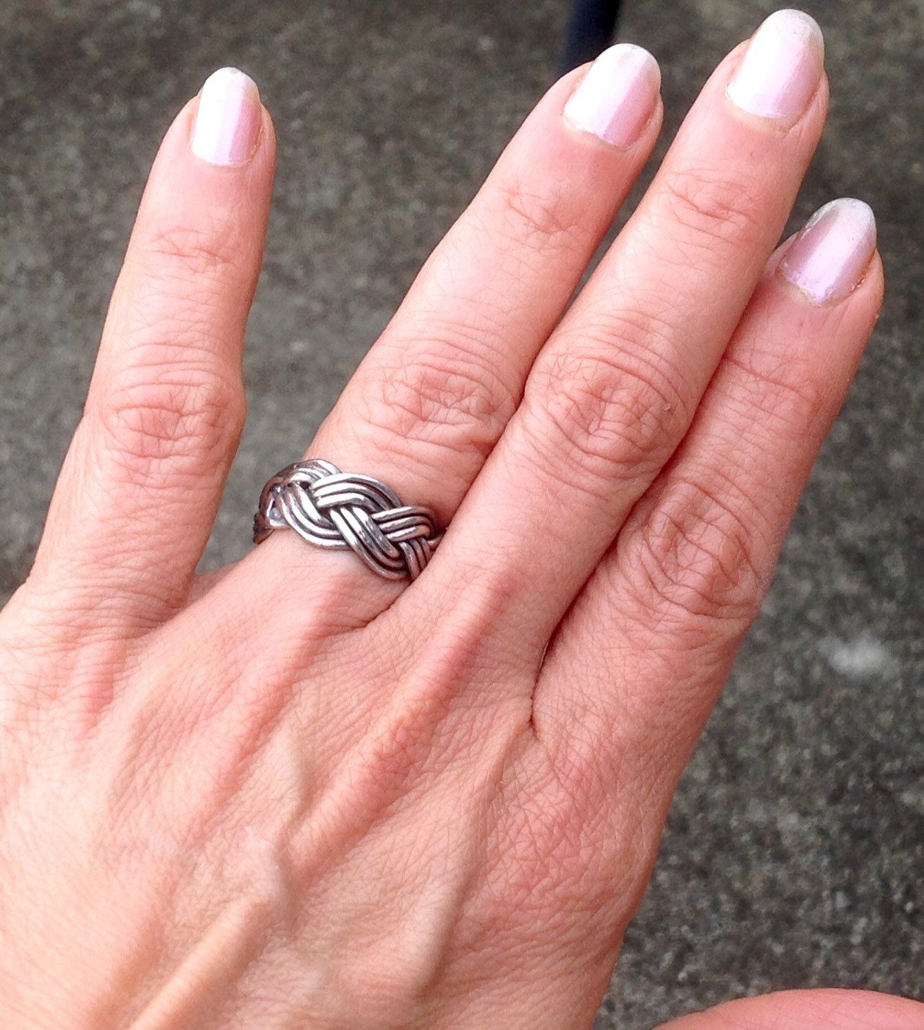 Braided Silver Ring,Vintage Silver Band Ring,925 Braided Ring,Size 6 ...