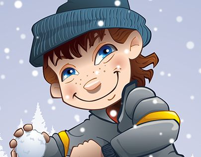 """Check out new work on my @Behance portfolio: """"Snowball Fight"""" http://on.be.net/1RnXRqC"""