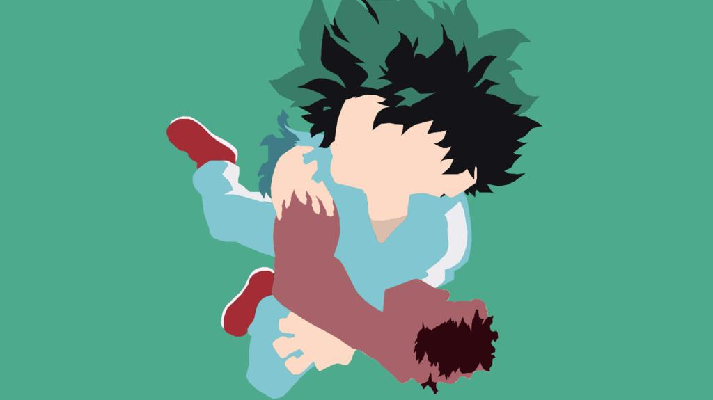 From The Anime Episode 4 Izuku Midoriya From Boku No Hero Acedemia C Kōhei Horikoshi Izuku Midoriya Minimalist Hero Boku No Hero Academia Anime Background