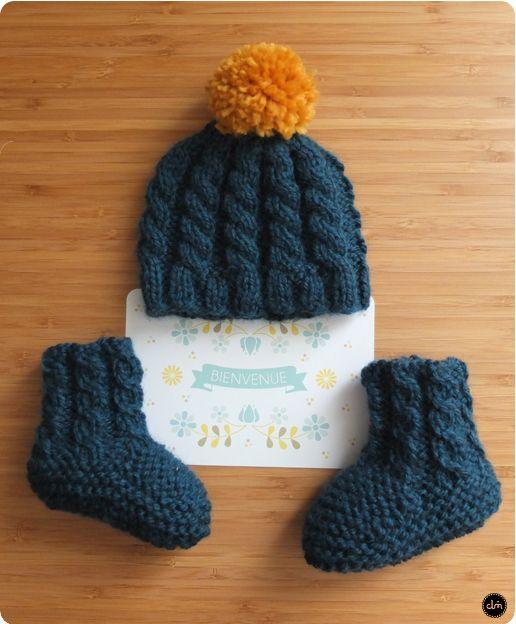 bonnet et chaussons irlandais