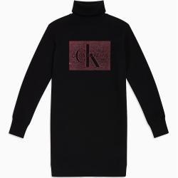Photo of Calvin Klein Logo-Sweatshirtkleid mit Rollkragen Xl Calvin KleinCalvin Klein