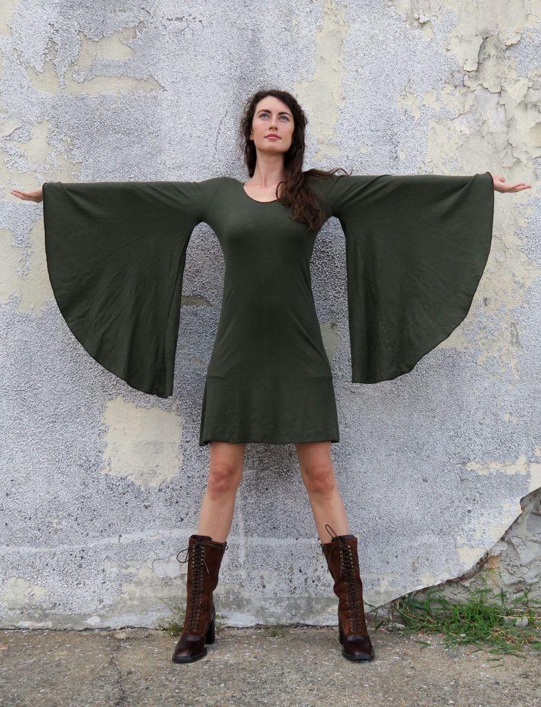 Ballerina priestess sleeve simplicity short dress in my style