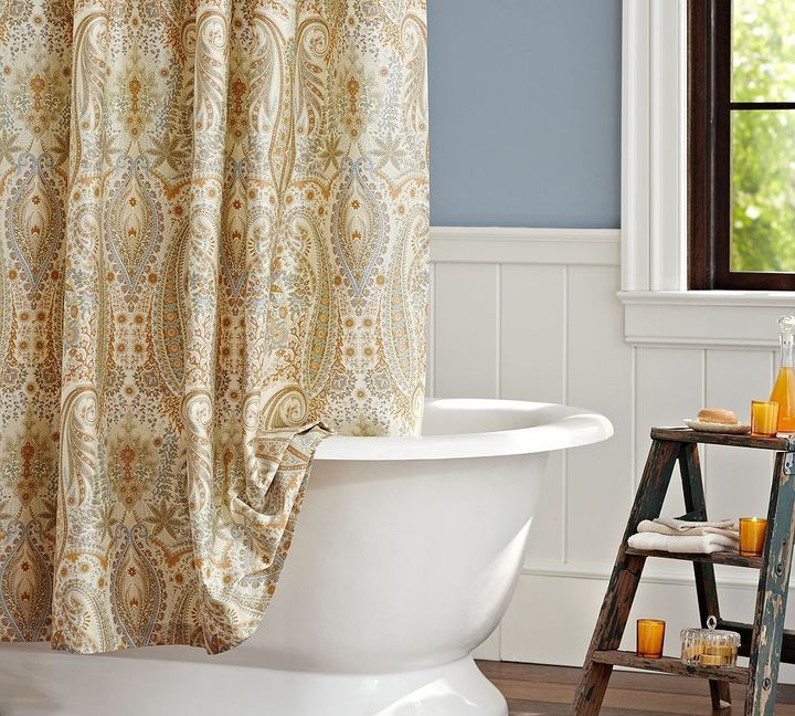 Pottery Barn Blythe Paisley Organic Shower Curtain