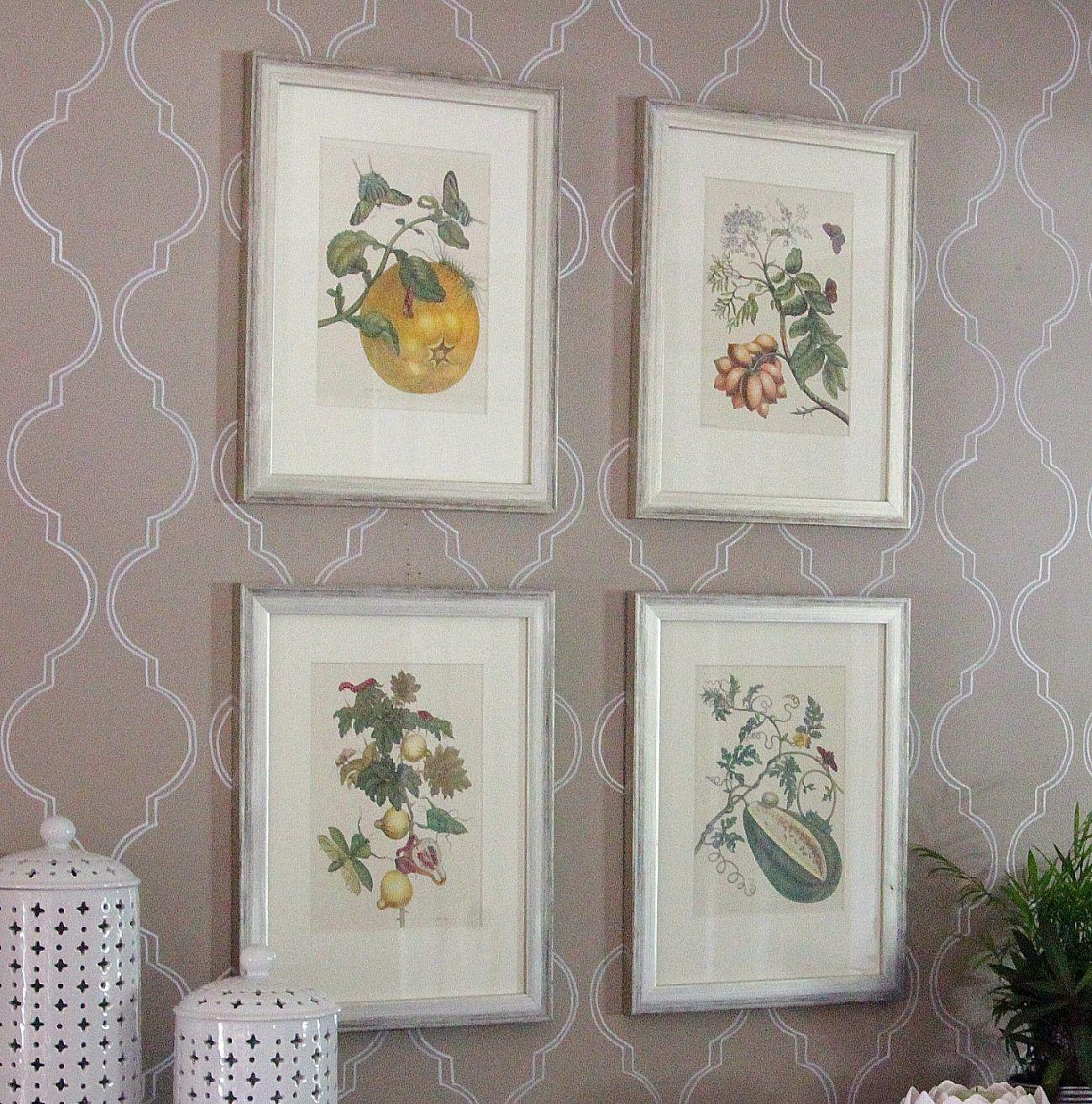 The Lovely Cupboard: Three DIY Art Ideas  Using @Kristin Croissant's lovely calender