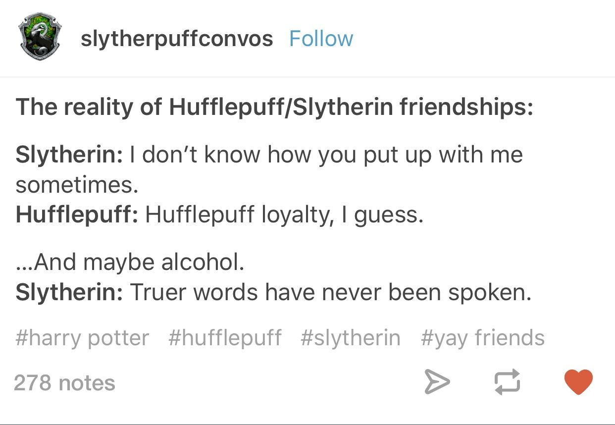 hufflepuff and slytherin relationship quotes
