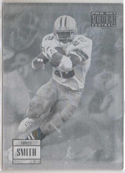 Emmitt Smith Nfl Football Cowboys Hologram Card Emmitts