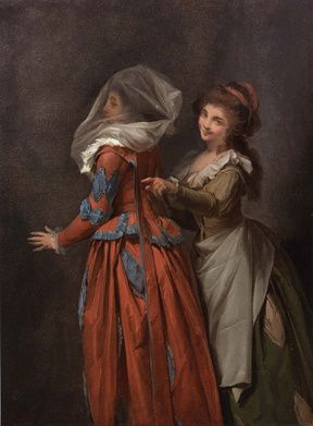 Study of an Elegant Lady and her Maid, Louis-Leopold Boilly