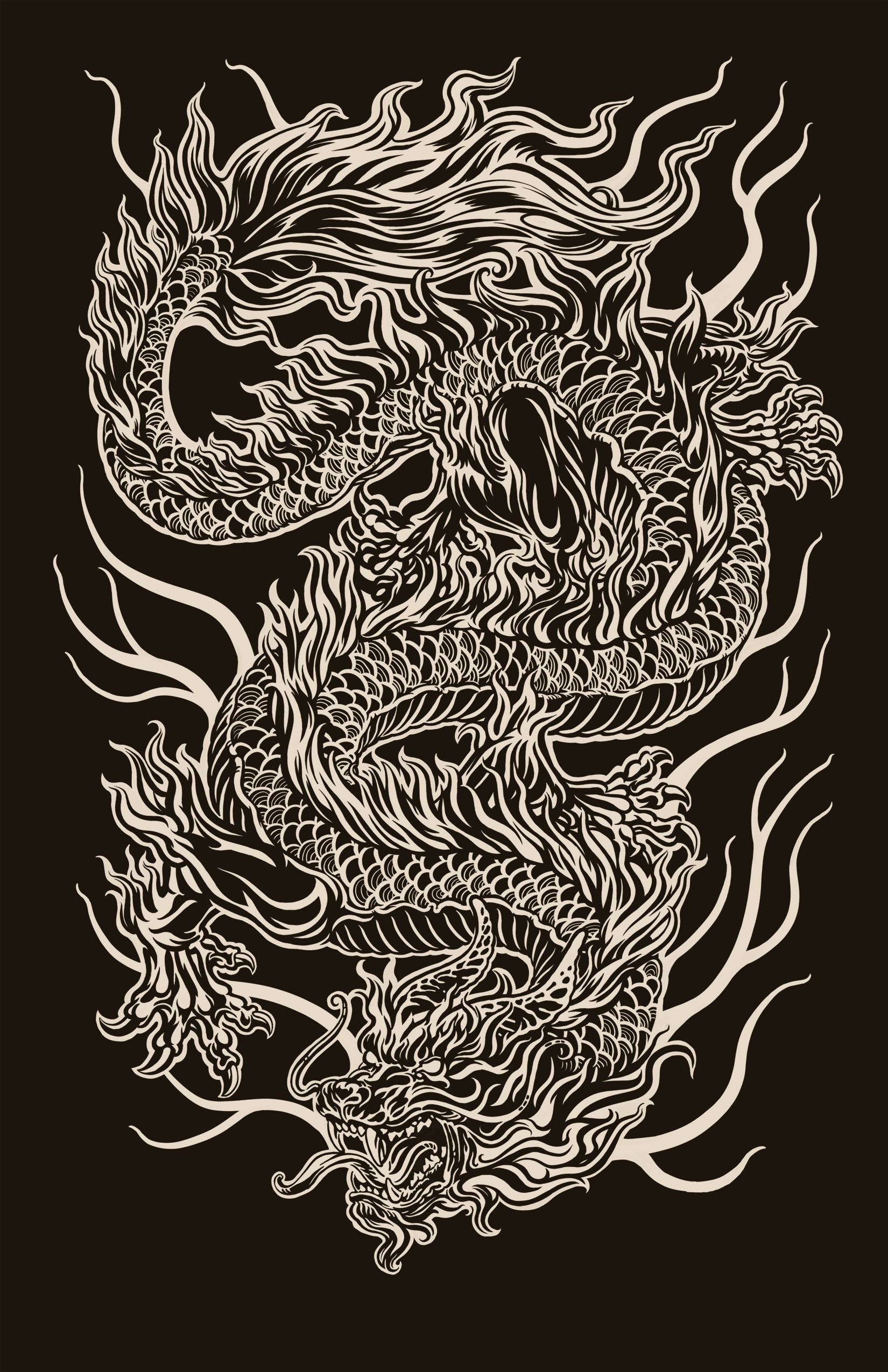 4cbb20413 Pin by paul n on dragons - Asian | Chinese dragon tattoos, Dragon art, Chinese  dragon