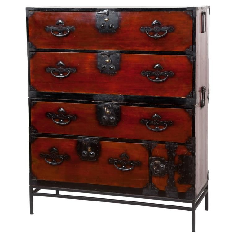 Antique Japanese Tansu Chest From A Unique Collection Of Antique