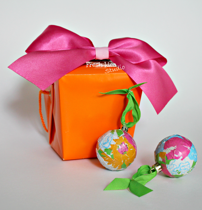 DIY Lilly Inspired Christmas Ornaments