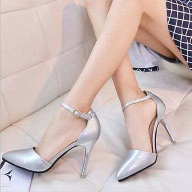 Shoes For Women Patent Leather Stiletto Heel Closed Toe Pumps Office Career Casual Pink White Silver