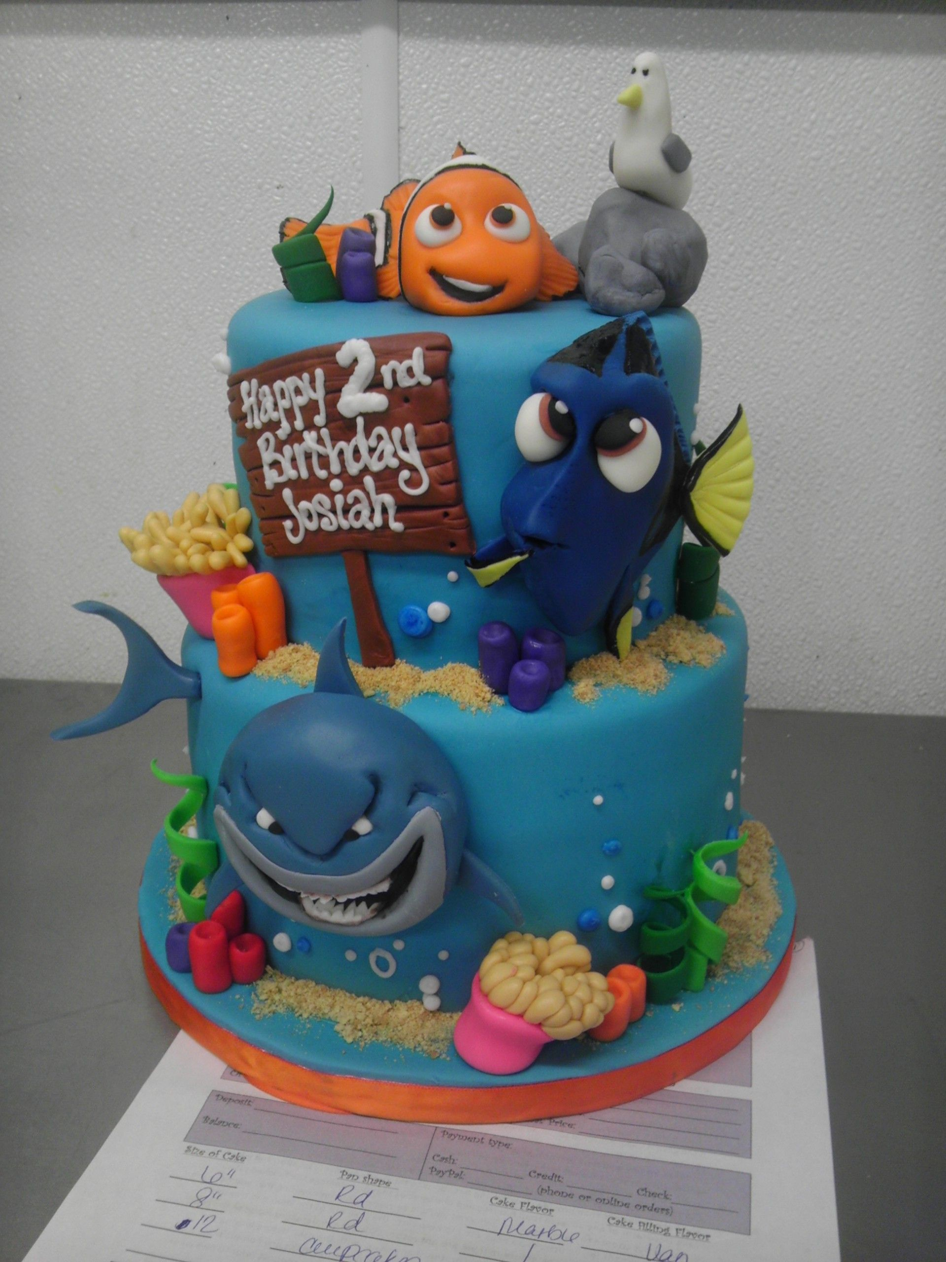 Finding Nemo Cake With Images Dory Birthday Cake Nemo Cake