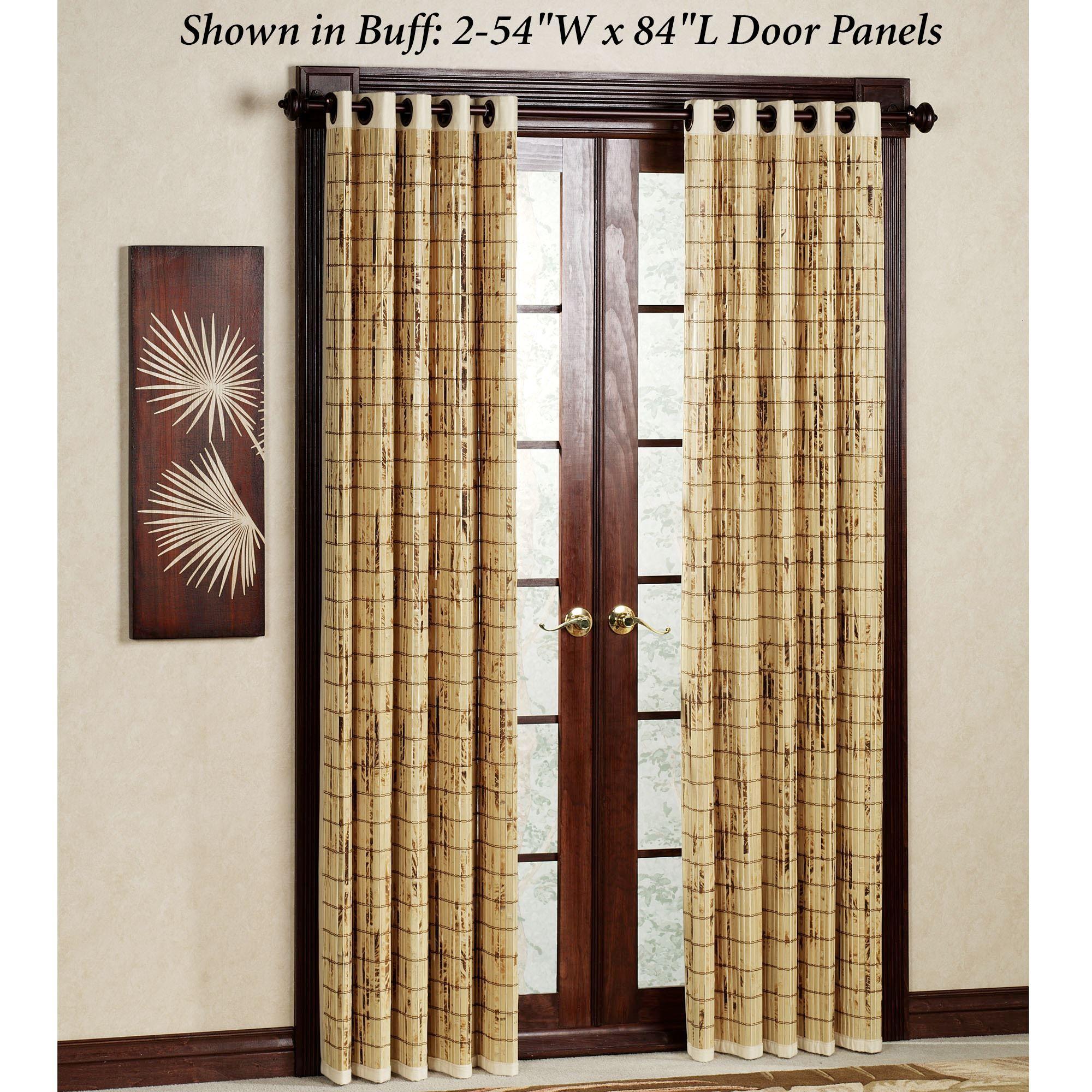 Bamboo Patio Door Grommet Panels