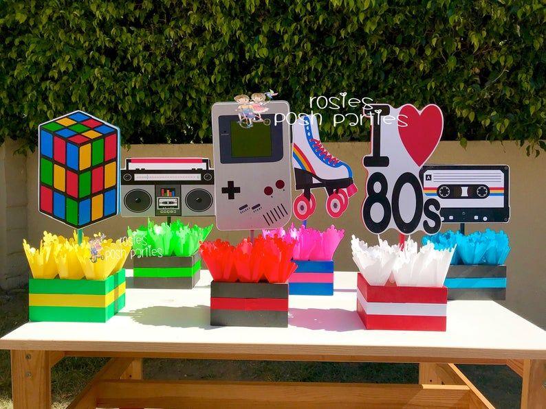 I love the 80s Theme 80s Birthday Centerpiece 80s Party