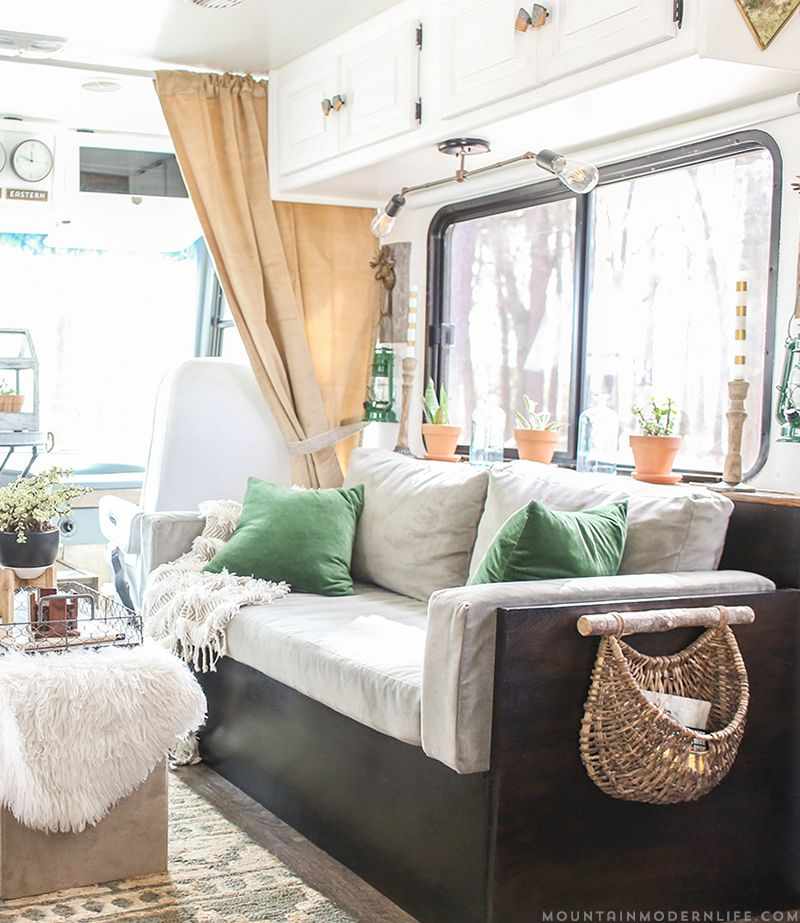 Want To Replace Those Old Light Fixtures In Your Motorhome With Updated RV Interior Lighting Its A Lot Easier Than You Think MountainModernLife
