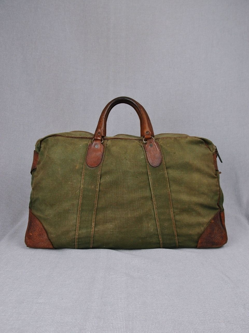 fe747d3f294e46 WW2 Duffle Bag Vtg 1940's Kit Bag WW2 Canvas Holdall 1940s Gym Bag Vtg  Weekend | eBay