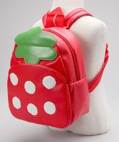 Shoulder this strawberry for fresh produce all year long—although this one's not for eating. This vinyl carrying companion has adjustable straps and convenient zipper pockets for holding everything from crayon masterpieces to a picnic lunch. A sturdy grab loop keeps this friend safely stowed on a hook until the next adventure. 8.7'' W x 8.7'' H x 4.3'' DVi...