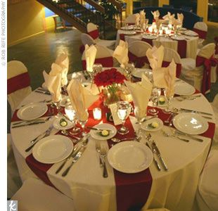Posts About Table Decor On A Black Ivory Red Wedding