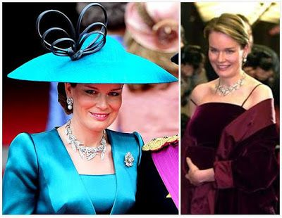 Mathilde's Laurel Wreath Tiara used as a necklace.
