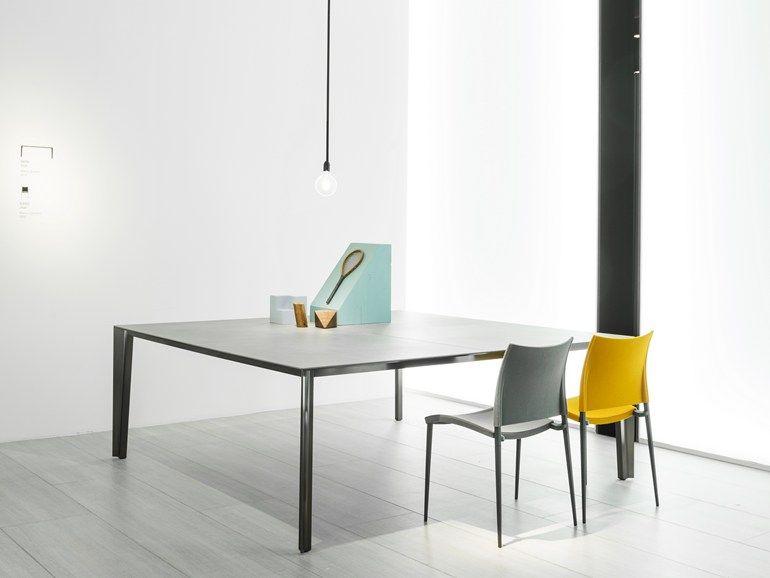 Tavolo quadrato Skin by Desalto design Marco Acerbis