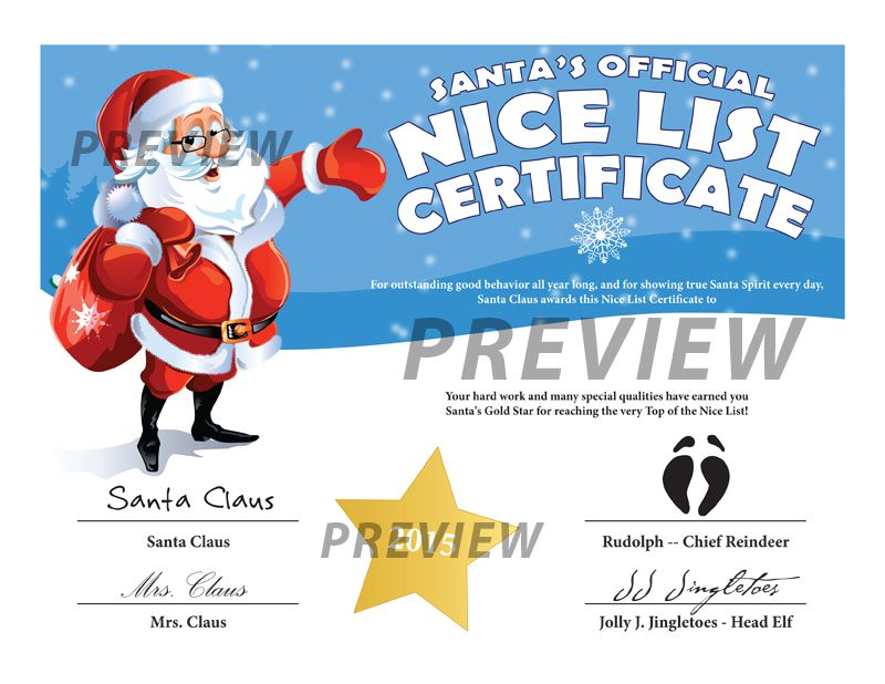 Easy Free Letter From Santa Magical Package  Nice List Santa And