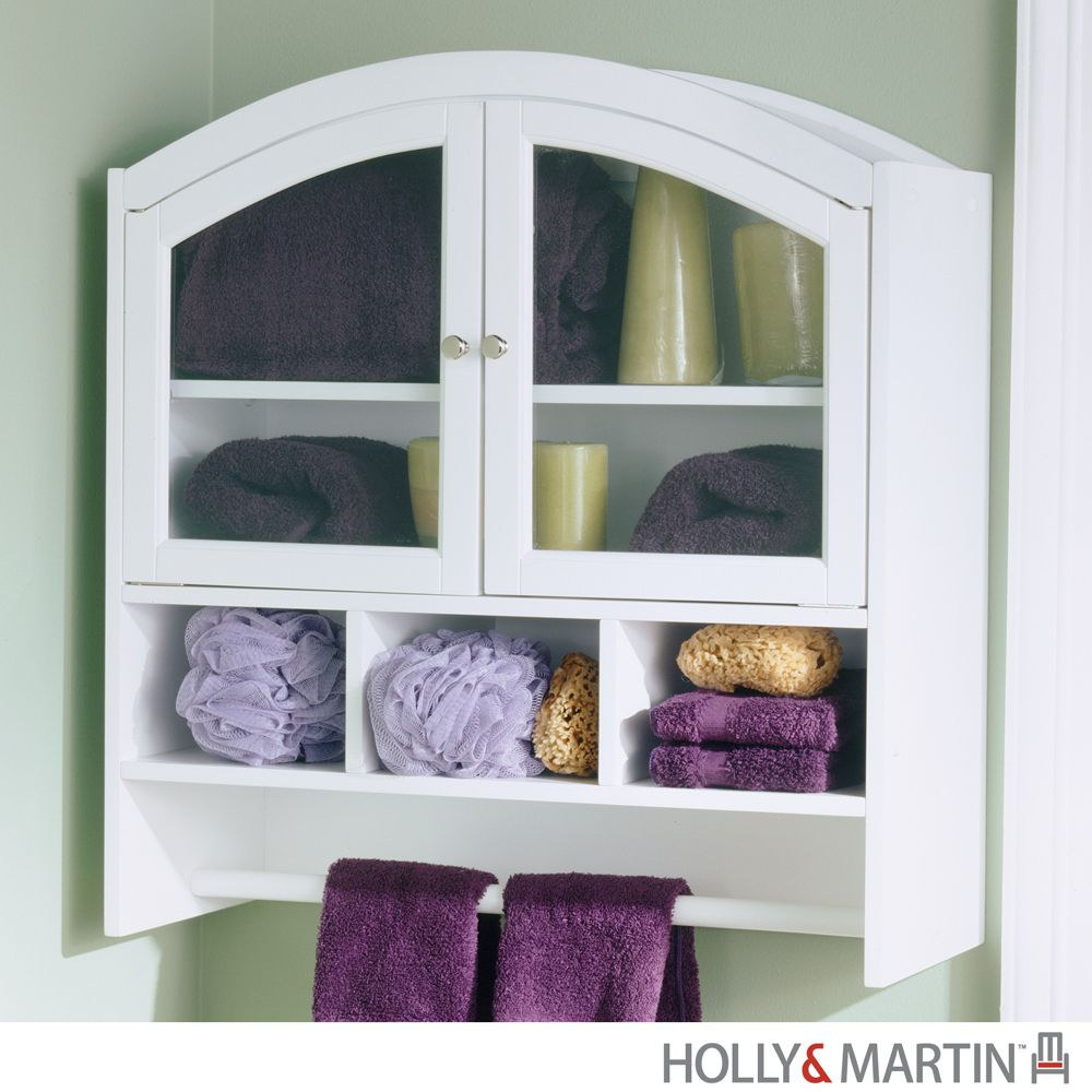 towel organizers | Sophie White Arch Top Bathroom Wall Hanging ...
