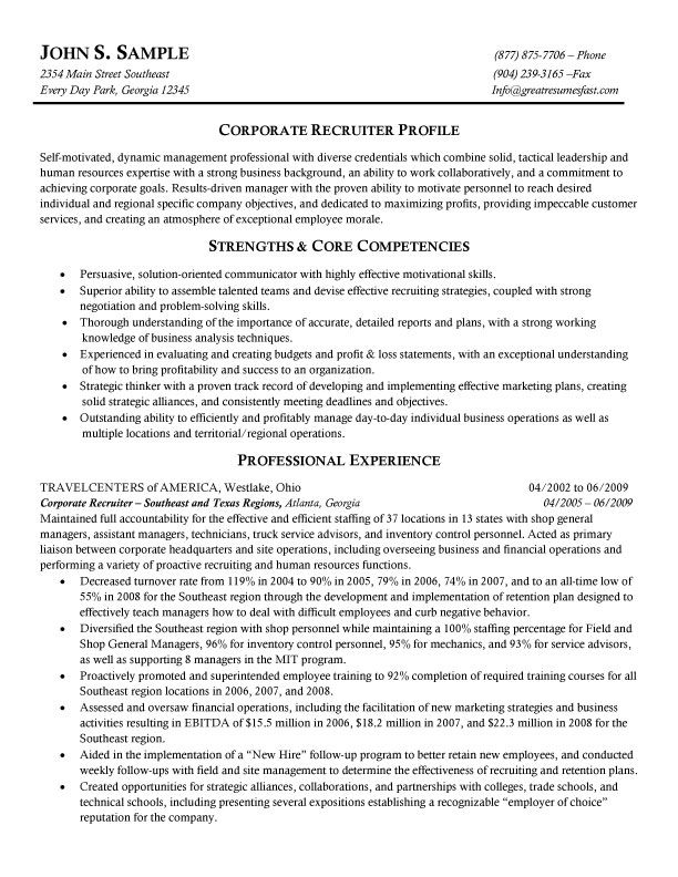 Sample Resume Recruiter Pinchristopher Con Personal Marketing  Pinterest  Sample .