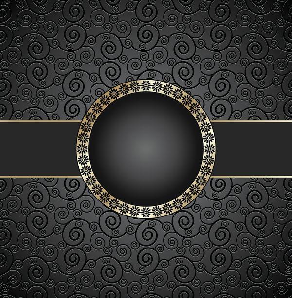 Golden Frame With Luxury Dark Background Vector 02 Dark Backgrounds Luxury Background Graphic Design Background Templates