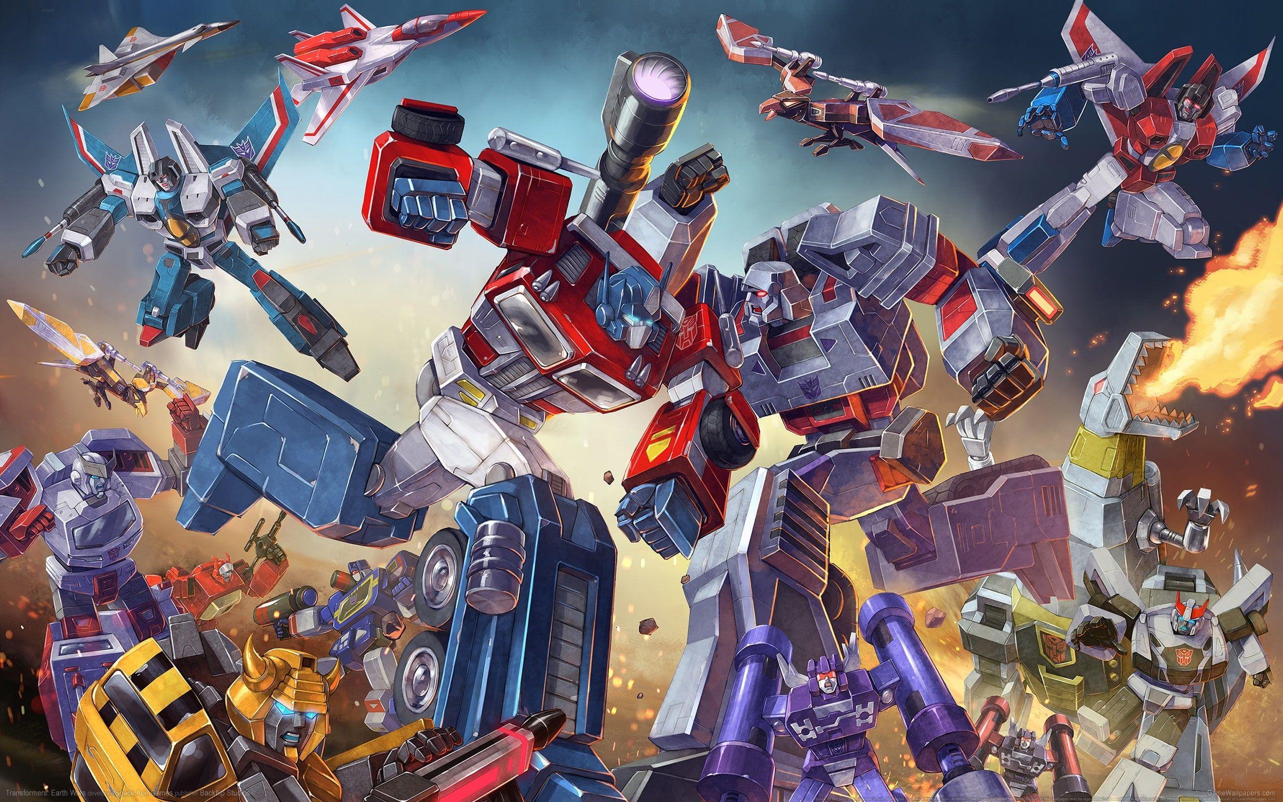 Transformers G1 Optimus Prime Bumblebee Megatron Battle 2k Wallpaper Hdwallpaper Desktop Transformers Hd Wallpaper 8k Wallpaper