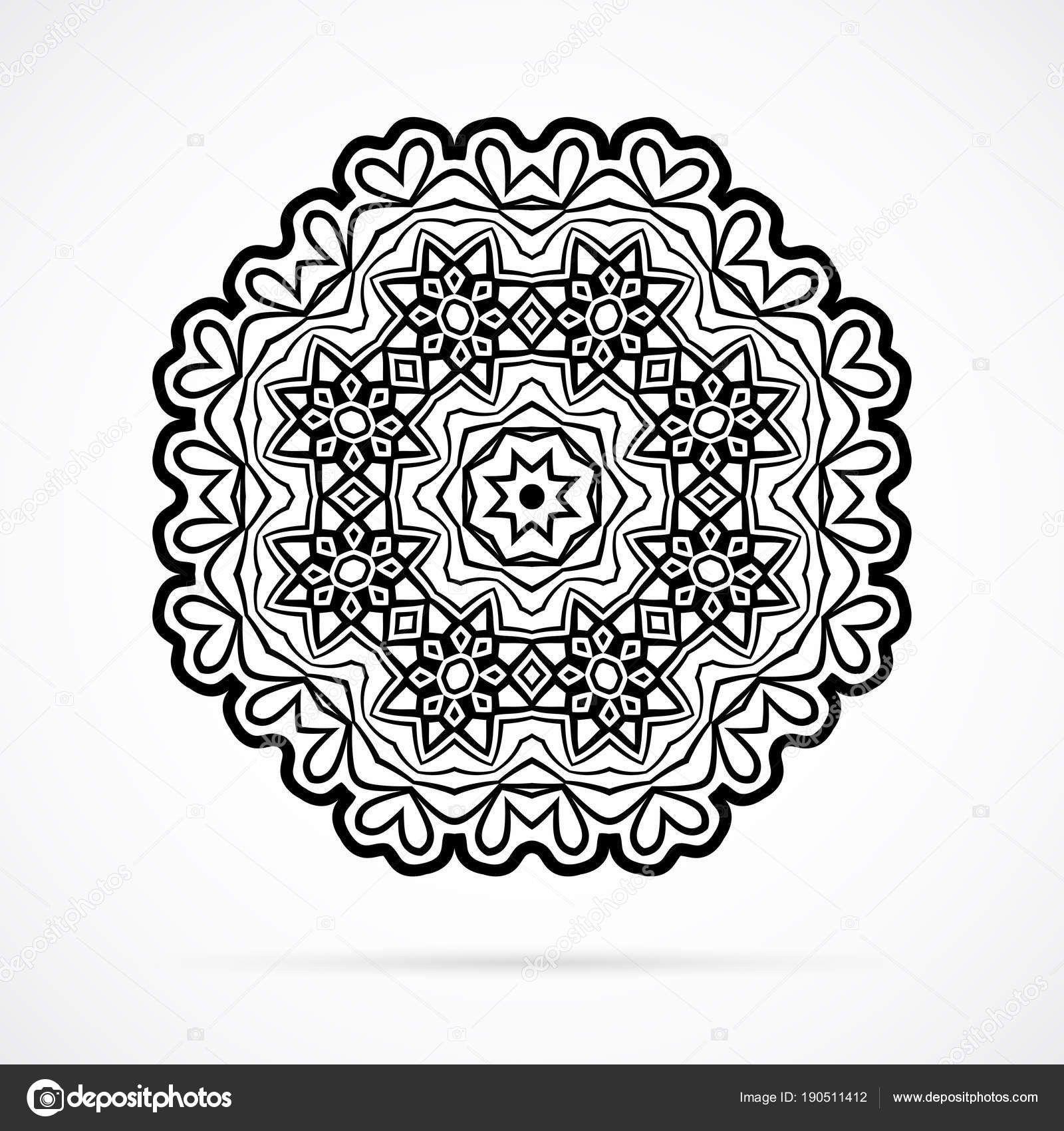 Disegni Geometrici Da Colorare Lusso Mandala Della Geometria Di Nero Di Vettore Sopra Bianco Of Disegni Geometrici Da Colorar Nel 2020 Disegni Geometrici Mandala Colori