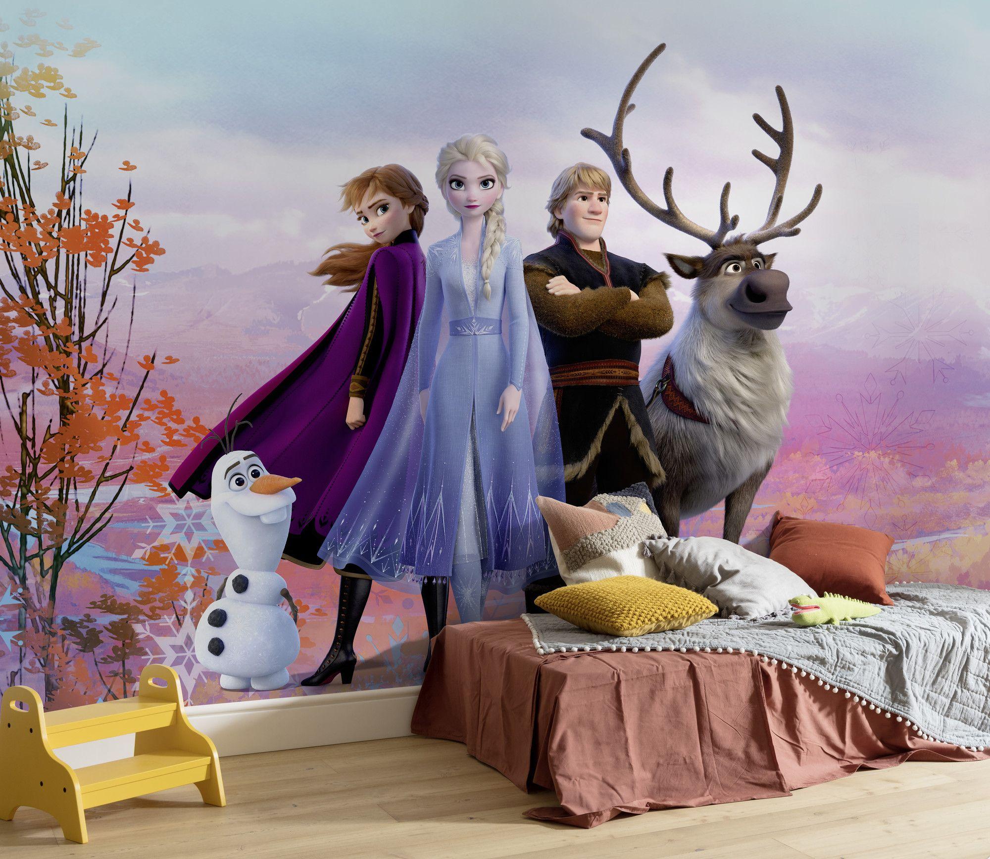 Elsa Frozen blue bedroom wallpaper murals 254x184cm photo wall decor DISNEY