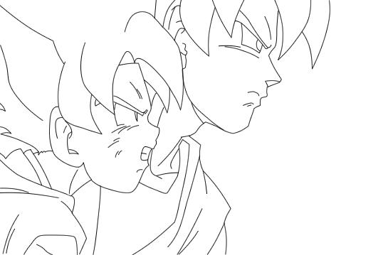 Dibujos Para Colorear De Dragon Ball Z Gohan Ssj2 Ideas: Goku Y Gohan Para Colorear - Buscar Con Google
