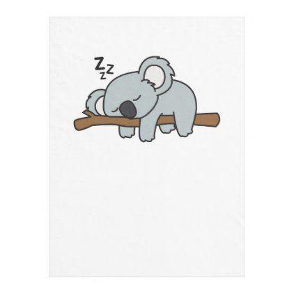 Cute Sleeping Koala Bear Cool Gift For Animal Love Fleece Blanket Zazzle Com In 2021 Cute Cartoon Wallpapers Koala Tattoo Koala
