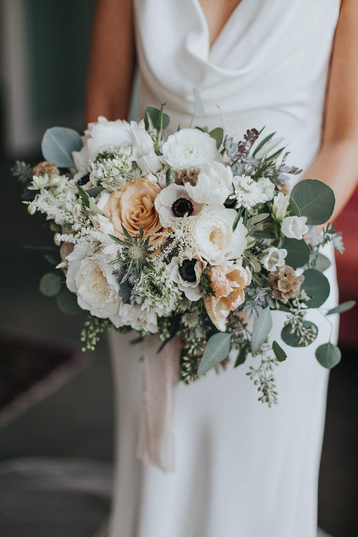 Simple Wedding Bouquet Greenery