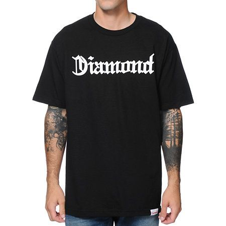 """Hit the streets right with a new tee sure to add flare to your outfit with the Diamond Supply Diamond4Life black tee shirt. Grab some fresh looks with the all cotton black colorway with a Diamond script logo screen print graphic at the chest in white, """"Diamond4Life"""" reverse text graphic at the upper back in white, Diamond Supply brand tag on the bottom hem, and a tagless design because tags get in the way of comfort. Freshen up your tee collection with the Diamond Supply Diamond4Life black…"""