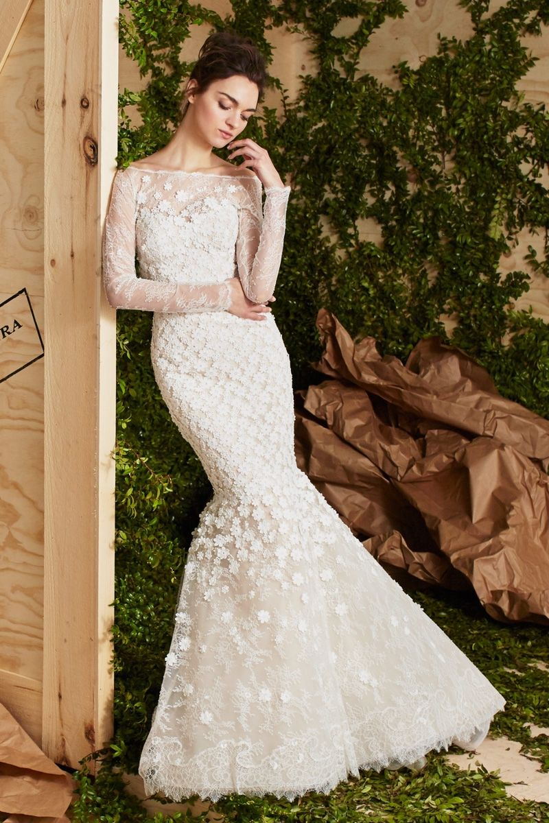 Carolina herrera bridal 2017 spring wedding dresses pinterest the addie gown from carolina herrera bridals spring 2017 collection is made of floral guipure lace with a mermaid silhouette junglespirit Choice Image